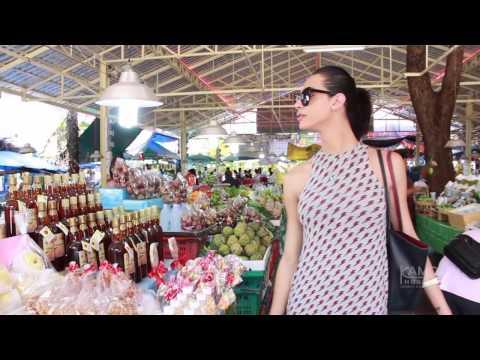 Miss Trans Israel 2016 enjoys herself at Don Wai Market outside Bangkok.