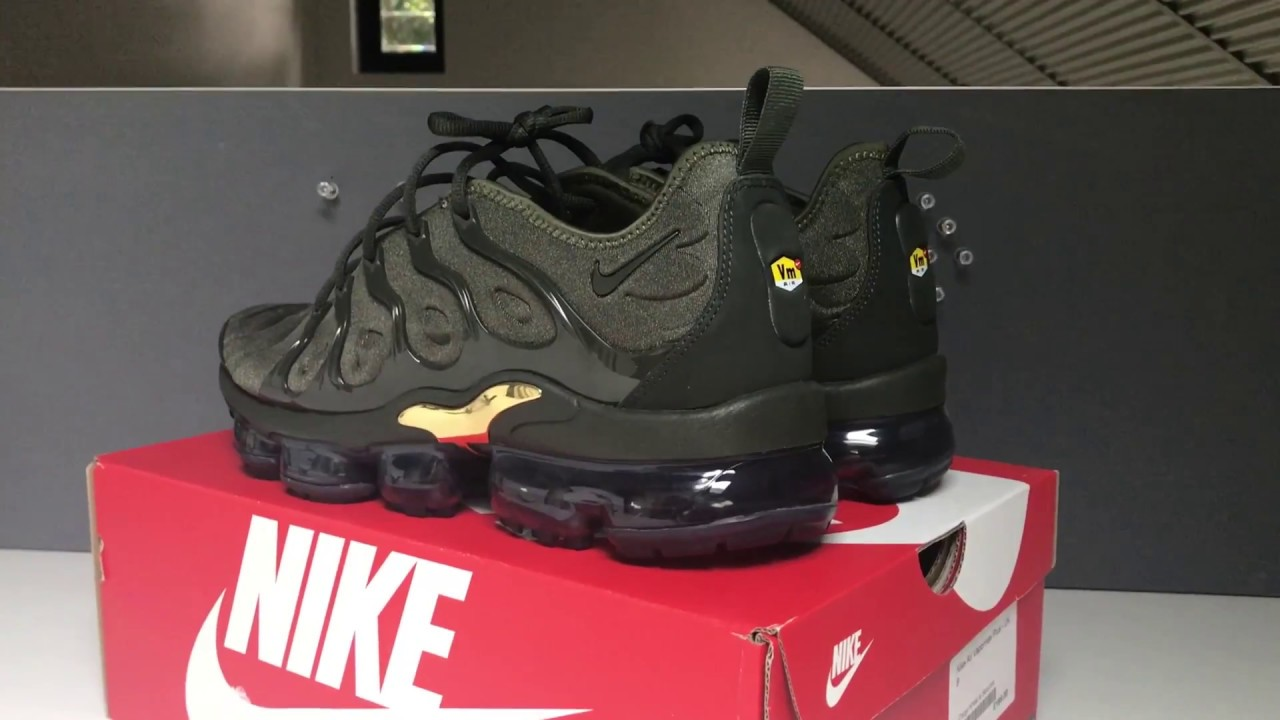 72b9de942d359 Nike Vapormax Plus Cargo Khaki On feet - YouTube