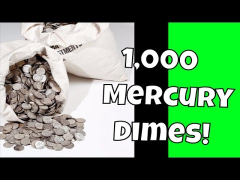 Bullion Lot Hunting $1,500.00 in 90% Silver Mercury Dimes for RARE Coins | Extreme Treasure Hunt!