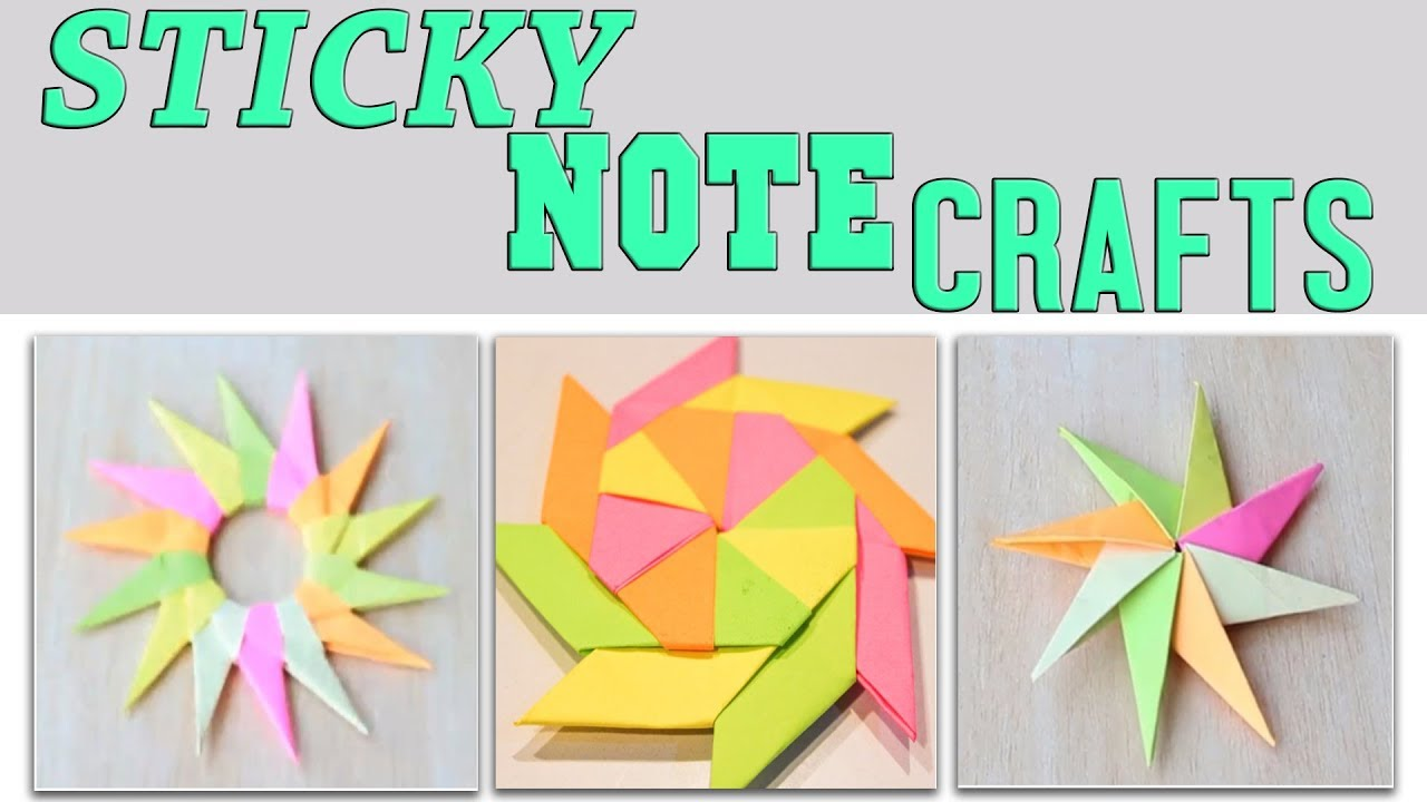 Easy Paper Crafts With Sticky Notes 3 Minute Crafts Compilation