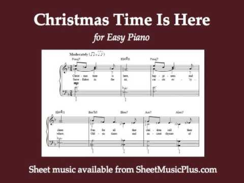 Christmas Time Is Here for Easy Piano