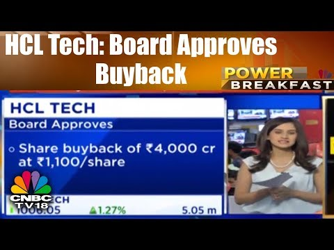 HCL Tech: Board Approves Buyback   Power Breakfast (Part 2)  13th July   CNBC TV18