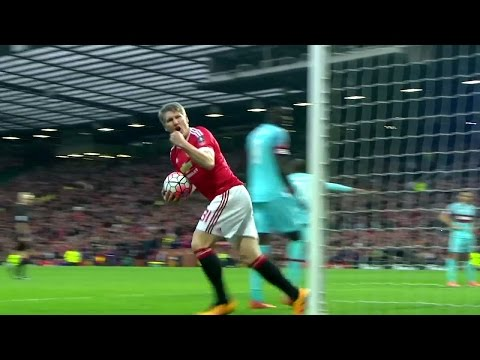 Bastian Schweinsteiger Vs West Ham Home HD 720p (13/03/2016)