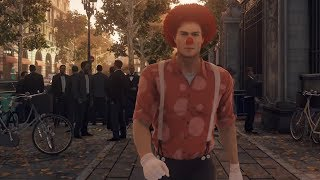Hitman has a special Clown mission. It rewards you for hitting people with a baseball bat
