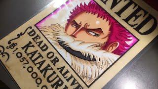 Drawing Wanted of Charlotte Katakuri - One Piece.
