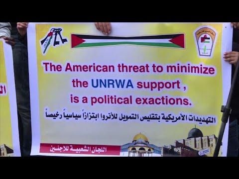 Gaza residents react to US freeze of UNRWA funding