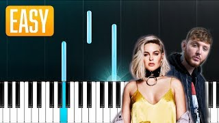 Anne-Marie & James Arthur - Rewrite The Stars (The Greatest Showman) 100% EASY PIANO TUTORIAL Video