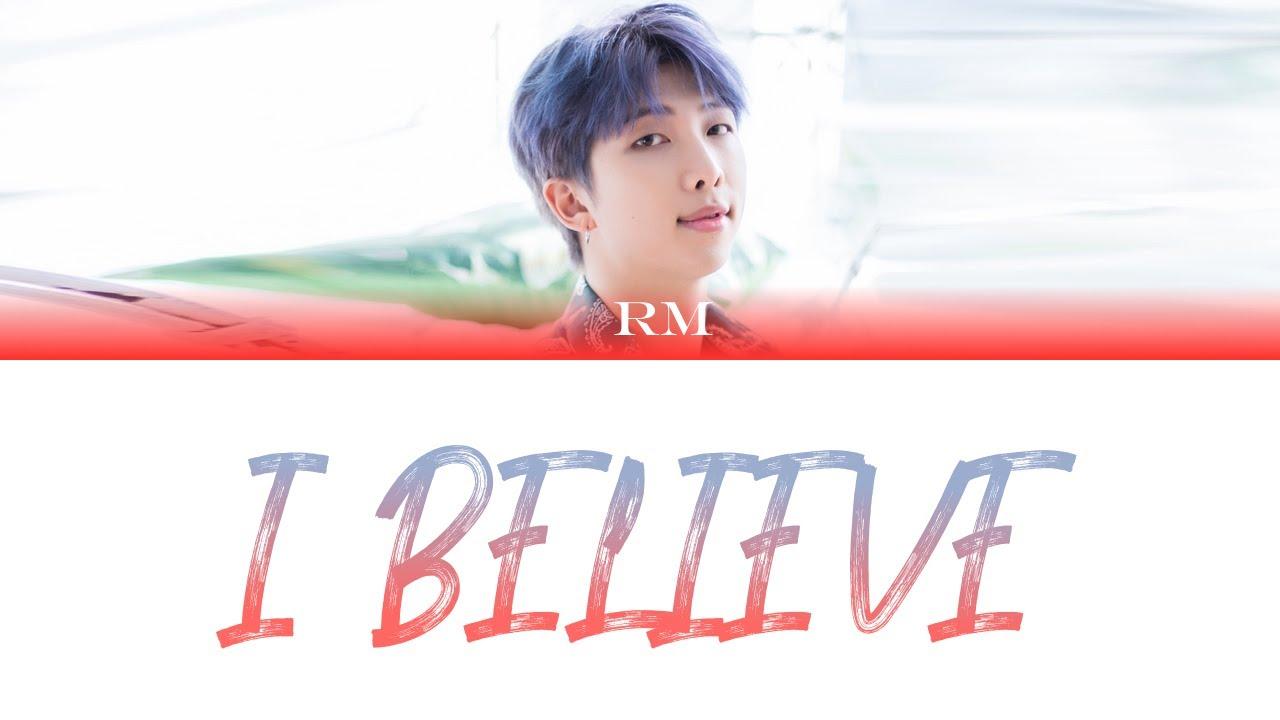 BTS RM - I Believe Color Coded Lyrics