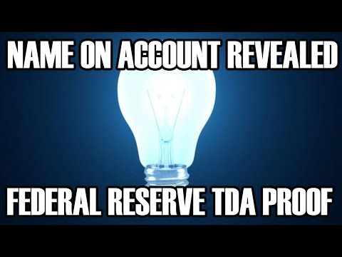 Account Name PROOF - Federal Reserve TDA - Credit Union Veri