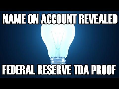 Account Name PROOF - Federal Reserve TDA - Credit Union Verifies - Harvey Dent