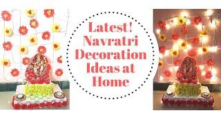 Navratri Decoration Ideas At Home - Mandir Decoration, Lighting, Backdrop, Navratri Mandap