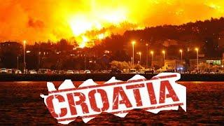Waldbrände In Split (Kroatien)