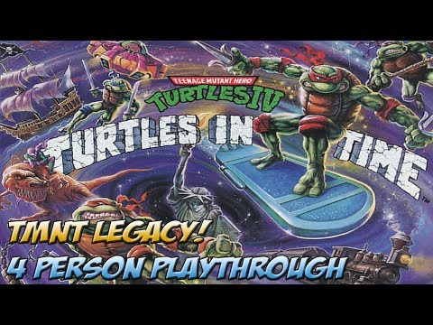 TMNT Legacy! Turtles in Time 4 Player Full Playthrough! - YoVideogames