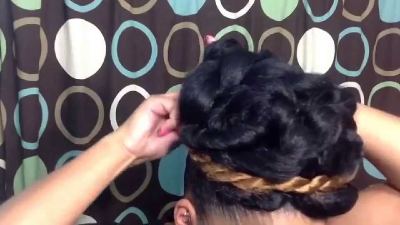 Natural Hairstyle Tutorial Elegant Goddess Bun Updo Using