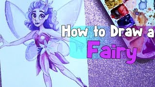 How to Draw a FAIRY - Easy Tutorial on Drawing a Fairy