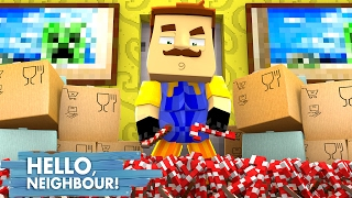 Minecraft Hello Neighbour - THE NEIGHBOUR STEALS ALL THE CANDY!