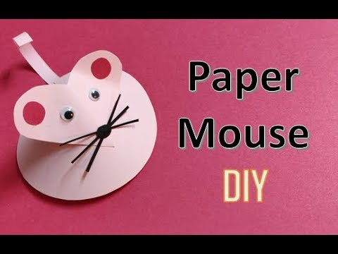DIY : Paper Mouse Tutorial   Easy Craft for Kids #Tuesdaycraft #Papercraft