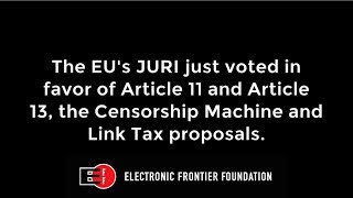 There's still time to stop #Article11 and #Article13. Here's how.