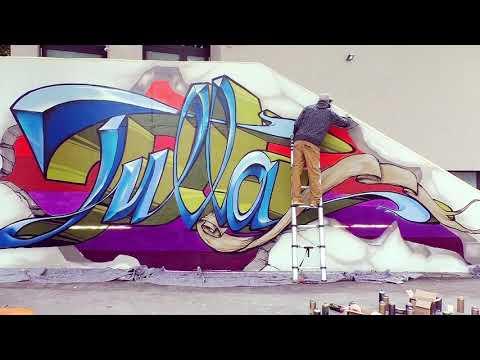 Graffitischool mit Jeroo an der Tulla-RS MA²