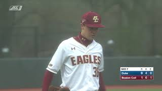 Baseball: BC vs Duke Recap (April 26, 2019)