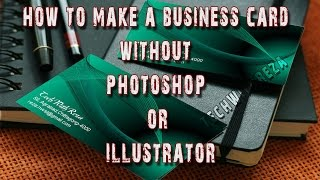 Business Card Designer-how to make a business card without photoshop or illustrator- TechWithReza