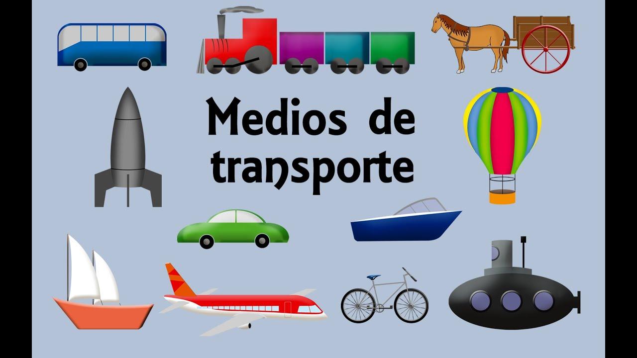 Los Medios De Transporte Para Niños Youtube