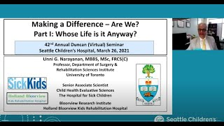 Duncan Seminar Keynote: Cerebral Palsy: To Mobility and Beyond