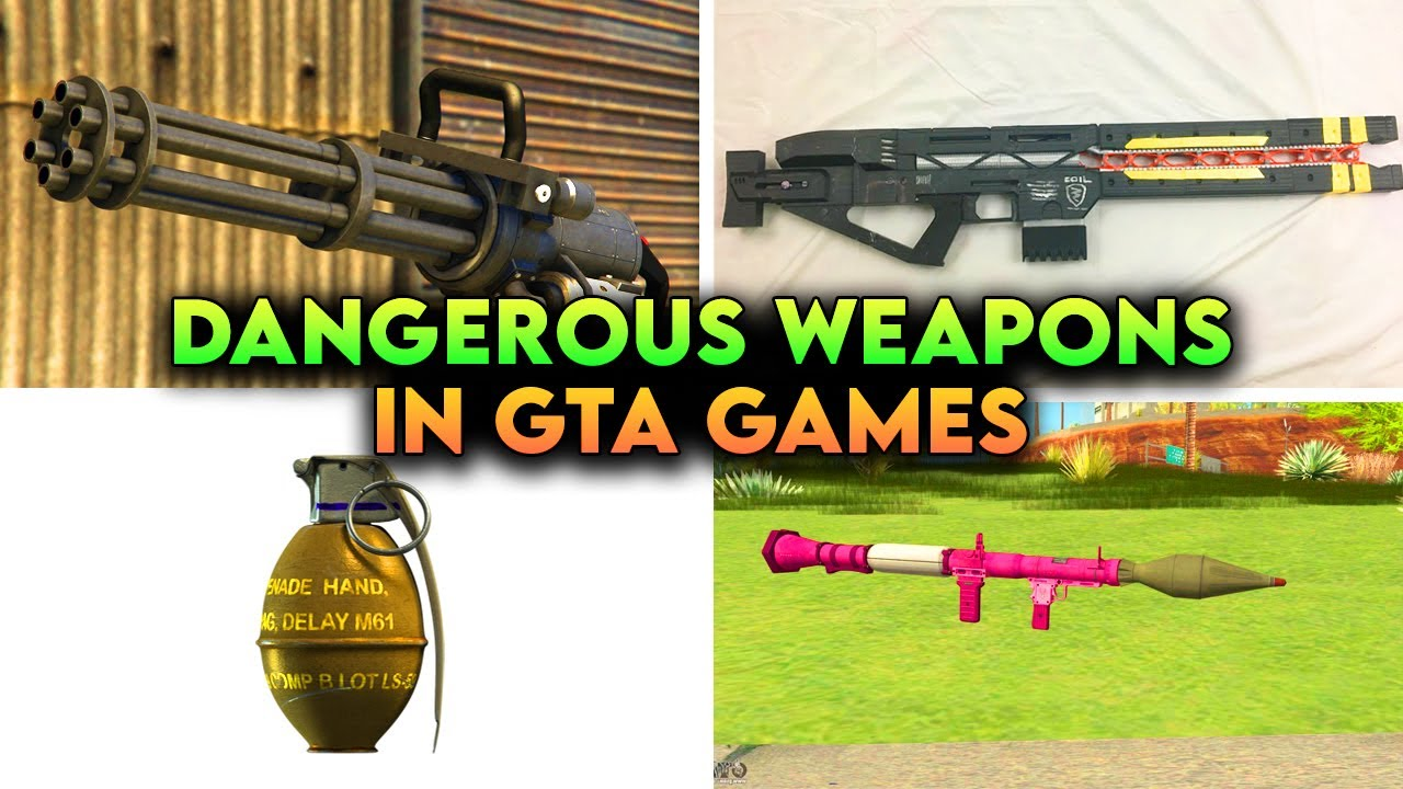 Top 7 Most *DANGEROUS* GUNS in GTA Games that Every Gamer Loves 😍😍