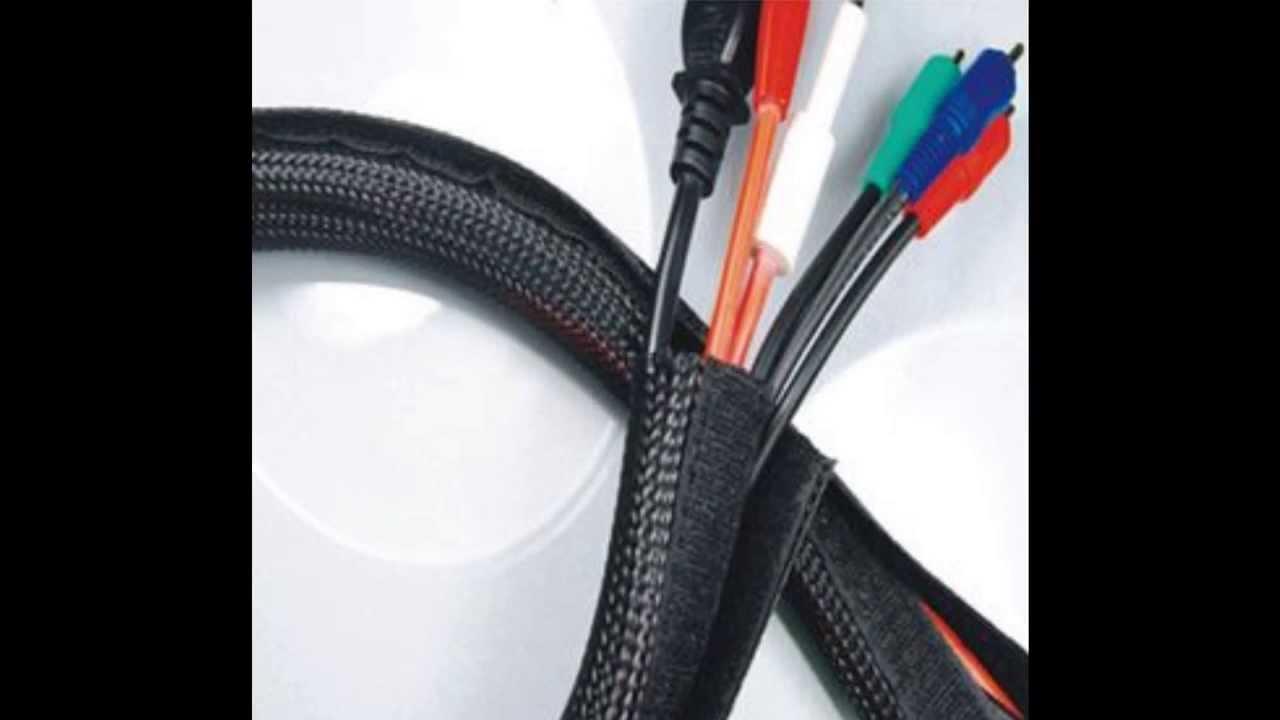 Hook & Loop Braided Cable Flexo Wrap Sleeving - YouTube