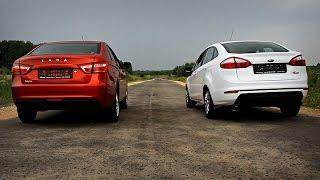 LADA Vesta VS Ford Fiesta: Динамика разгона(, 2016-08-21T17:47:28.000Z)