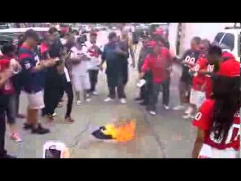 Texans Fans Burn Schaub Jersey