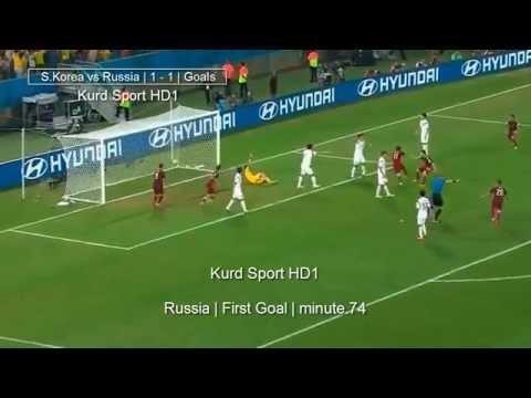 south.korea vs russia all goals . world cup 2014 | اهداف مباراة كوريا الجنوبية و روسيا 1-1
