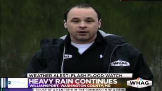 Weather Alert: Flash Flood Watch - Williamsport Potomac River LIVE - WHAG News at 6:00 PM - 4/29/14