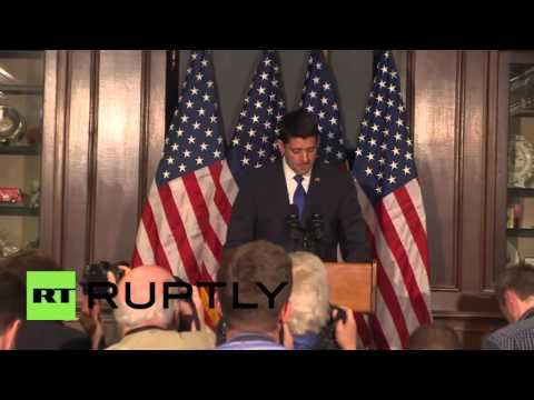 USA: House Speaker Paul Ryan will not run for president,