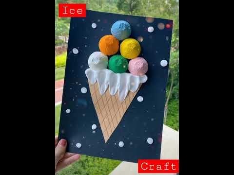 Simple ice-cream Craft | for beginners