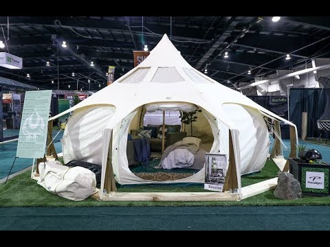 Youu0027ve got to see inside this 200-square-foot gl&ing tent & Youu0027ve got to see inside this 200-square-foot glamping tent - YouTube