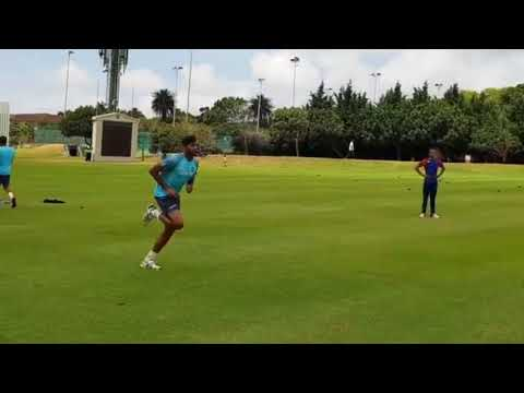 Indian cricket team bowling practice