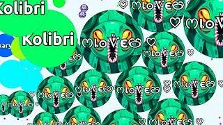 1 SMALL PRO VS 1000 GIANT NOOBS ( Insane Solo Agar.io Gameplay )