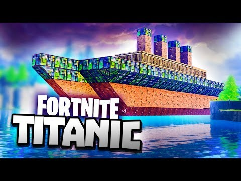 BUILDING TITANIC IN FORTNITE - New Playground Fortnite Sandbox Mode