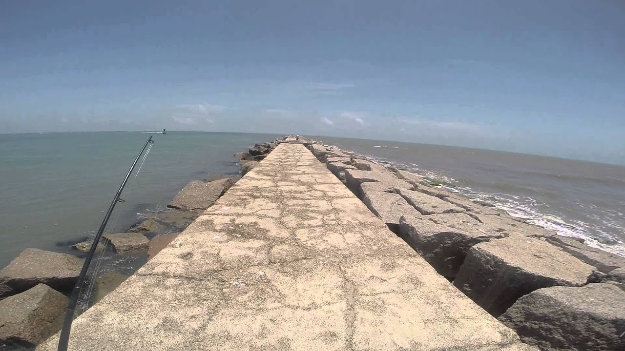 Port aransas jetties 2014 youtube for Port aransas jetty fishing report