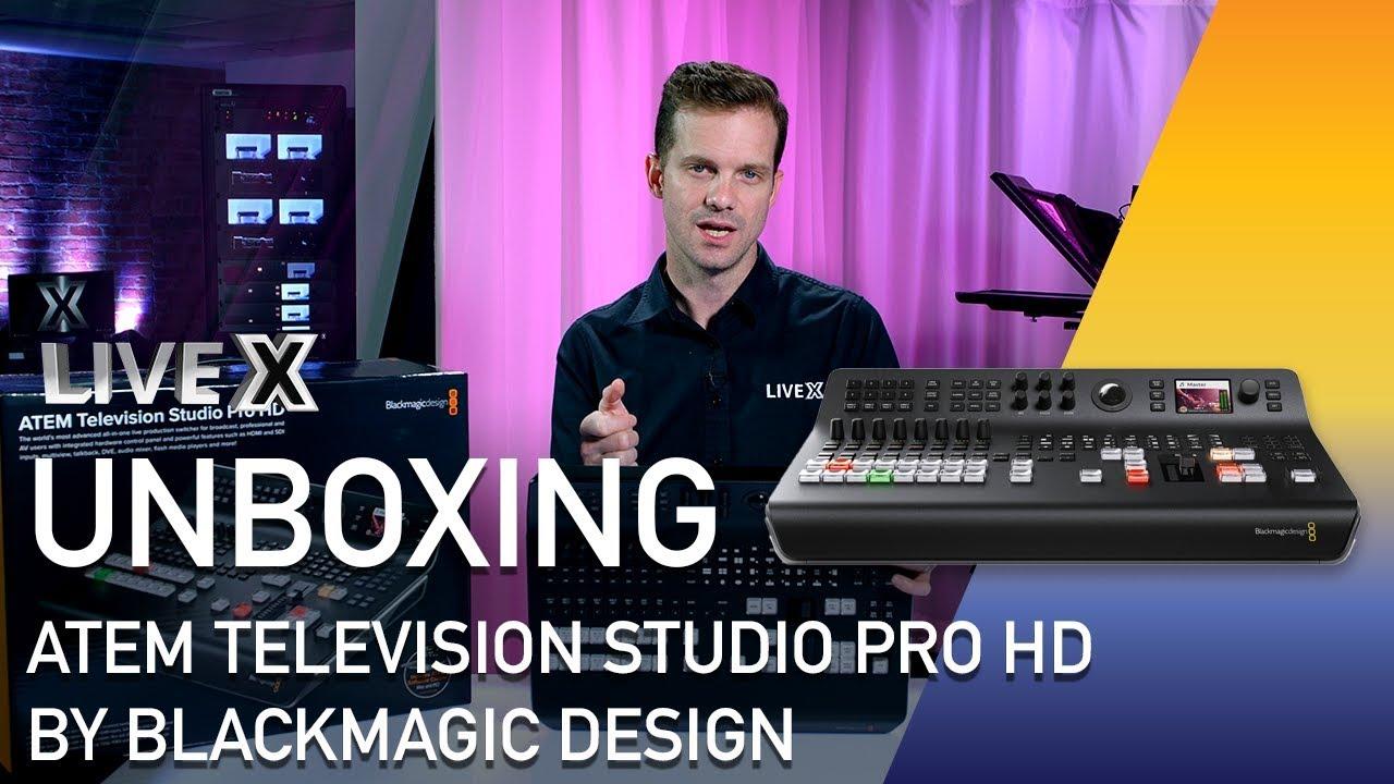 Unboxing Atem Television Studio Pro Hd By Blackmagic Design Youtube