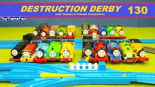 Thomas & Friends Destruction Derby #130 - Trackmaster and Plarail toy trains for kids competitio