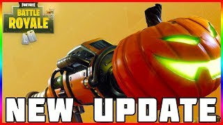 HALLOWEEN UPDATE! New Character Skins/Weapons & More - Fortnite Battle Royale - Update 1.8