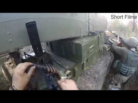 2017  Ukraine War   Helmet Cam Firefight  Combat Footage .