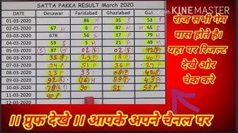 Desawar single jodi fix game satta king satta guru matka gali haruf single trick march 2020