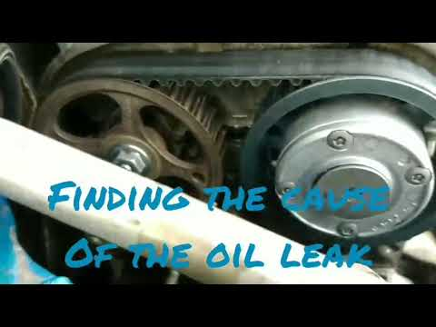 How to find an engine oil leak ( using baby powder)
