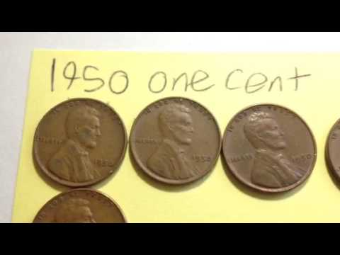 1950 (no mint mark) United States One Cent Wheat Penny