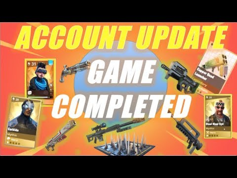 Account Update, Game Completed :)