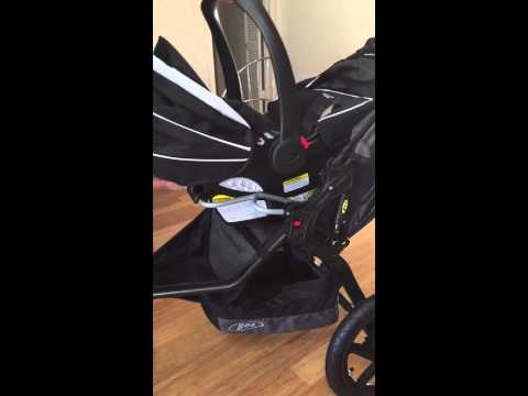 Bob Revolution stroller with Graco car seat unit