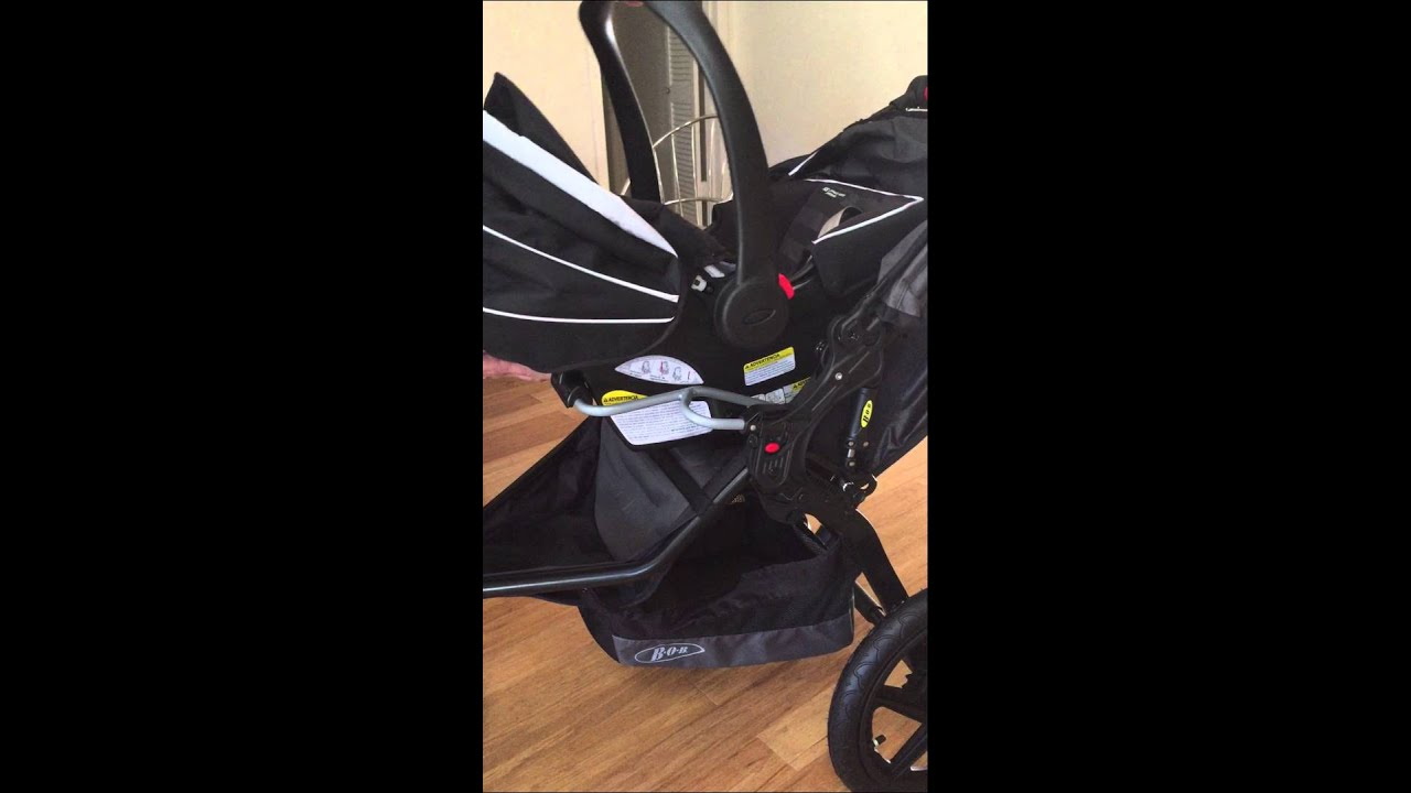 bob revolution stroller with graco car seat unit youtube. Black Bedroom Furniture Sets. Home Design Ideas